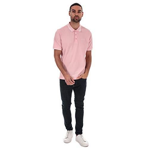 Ben Sherman Mens Mens Twin Tipped Polo Shirt in Pink - L