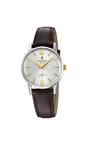 Festina Damen Analog Quarz Uhr mit Leder Armband F20254/2