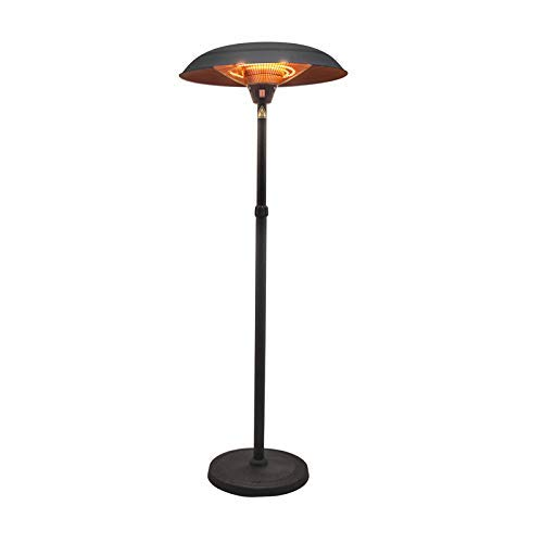 JACKWS Sunlike Electric Umbrella Infrared Heater 2100W Patio Gazebo Outdoor Use Dumping Protection Freestanding Electric Quartz Bulb Garden Patio Heaters - 3 Power Settings (Size : 3000W)
