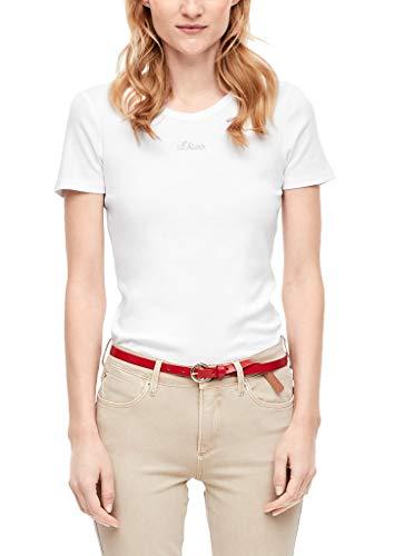 s.Oliver Damen 04.899.32.5004 Kurzarm T-Shirt, White, 42