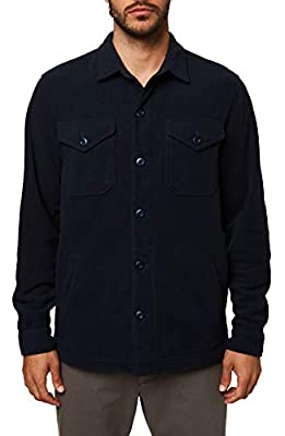 O'NEILL Men's Fleece Shirt Jacket (Navy/Jammmin, M) by O'Neill