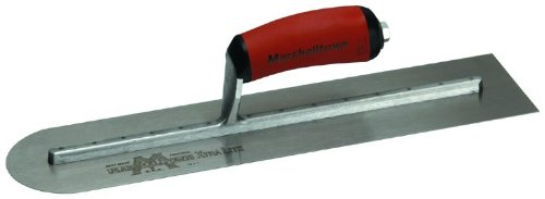 MARSHALLTOWN Concrete Finishing Trowel 18 X 4 Round Front Curved Handle