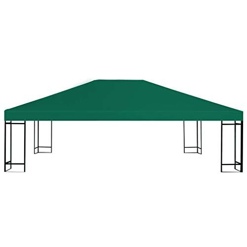 Festnight- Toldo de Cenador Toldos para Jardin Verde 4 x 3 m con Revestimiento de PVC (Impermeable)