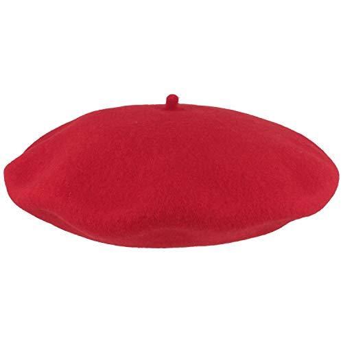 Breiter Damen Baskenmütze   Damenmütze   Wollmütze für Frauen - aus 100% Wolle - Woolmark® - besonders weich & angenehm – One Size