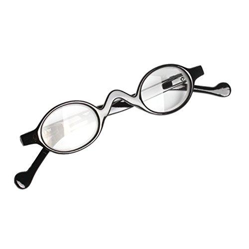 IOSHAPO Schattige kleine Ronde Plastic Spring Heeled Vergrootglas Leesbril