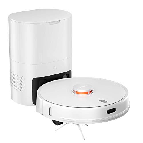 Lydsto R1 Robtot Aspirador automático de recogida de polvo y fregona limpiador integrado con bolsa de polvo grande 3L Base limpia Estación de limpieza inteligente APP AI Control (blanco)