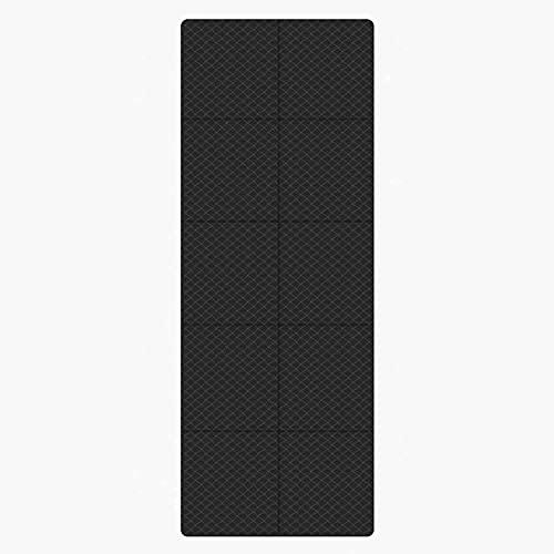 JKYP Yoga Matt Profession - Esterillas de yoga de 4 mm plegables antideslizantes para viajes, movimiento portátil, alfombrilla de gimnasio (color: negro)