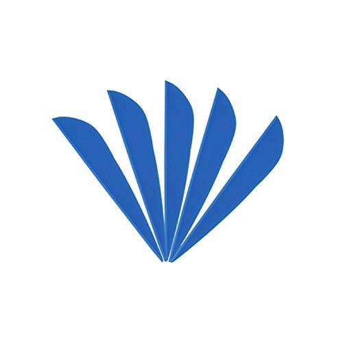 AMEYXGS 100pcs Tiro con Arco Flechas de Goma de Plumas de Flecha 3' Flecha Flecting para Eje de Flecha DIY (Azul)