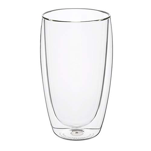 [ ボダム ] bodum グラス パヴィーナ ダブルウォールグラス 450mL 6個セット 4560-10-12 PAVINA 二重構造 耐熱 保温 Double Wall Glass [並行輸入品]