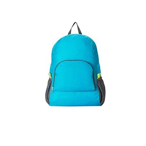 Generic Sac à Dos Etanche Pliable Portable pour Voyage Randonnée Camping Course 20l - 25l - Taille Unique, Bleues