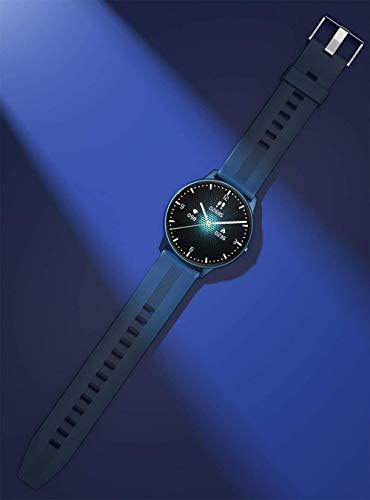 Reloj Inteligente Pantalla Táctil Completa Fitness Tracker Ritmo Cardíaco Presión Arterial Oxígeno Monitor Bluetooth Smartwatches para Android iOS-Azul