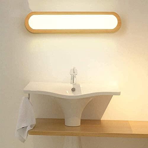 TOPNIU Lámpara de Espejo 110V-220V DIRIGIÓ Espejo Frontal luz 3 Color dimmable, Madera tocador Espejo de baño luz de Pared lámpara de baño lámpara para la Cama Espejo gabinete tocador Maquillaje