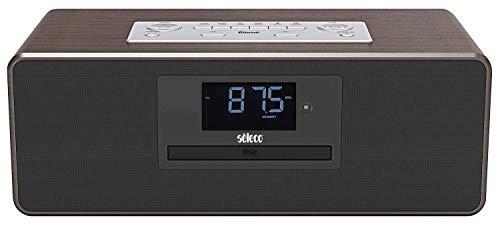 Stereoanlage mit CD, Radio Bluetooth, AUX, USB Ladefunktion und Holzgehäuse