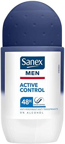 Desodorante antitranspirante de hombre, Sanex Men Active, sistema Roll-On, x 10 unidades de 50 ml.