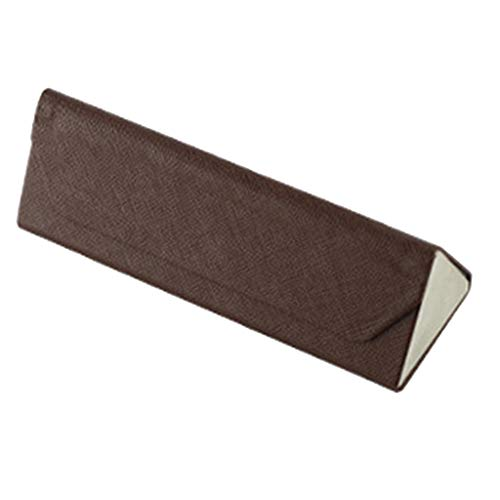 SDENSHI Funda para gafas plegable triangular de Pu Leatther. marrón Talla única