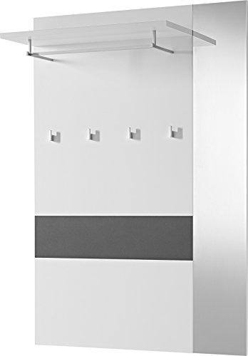 Germania 3317-110 Garderobenpaneel GW-Alameda in Anthrazit/Weiß, 100 x 149 x 26 cm (BxHxT)