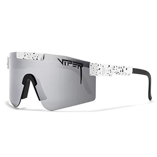 HUALUWANG Gafas de Ciclismo al Aire Libre Pit Viper, Gafas Deportivas a Prueba de Viento UV400 Polarizadas Gafas de Sol Hombre y Mujer (Color : A)