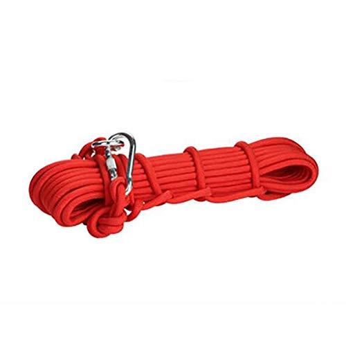QARYYQ - Cuerda de Alambre para Escalada de Emergencia, para Camping, Escalada en Roca, Cuerdas de selección (Color: E, tamaño: 10 mm, 10 m)