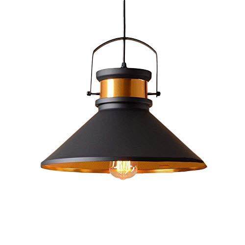 HDDD hanglamp voor binnen, één vlam, met ijzeren kop/halfverzonken plafondlamp, bronskleurig met oliepolijstmiddel