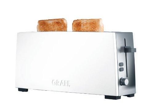 Graef Langschlitz-Toaster TO 91, Edelstahl, weiß