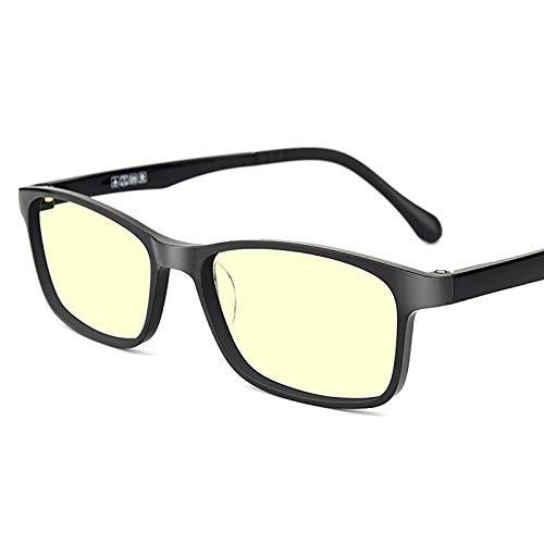 KAINUO Gafas de luz Azul para niños, Gafas de Bloqueo, protección Uv400, Gafas de Juegos de Ordenador Anti Rayos Azules/Anti arañazos/Rayos Ultravioleta, Black-Square