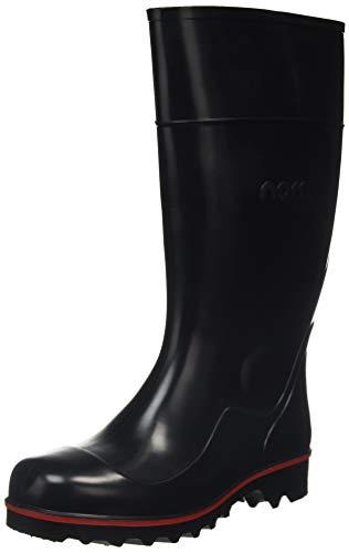 Nora Megajan, Rain Boots Unisex Adulto, Negro, 49.5 EU