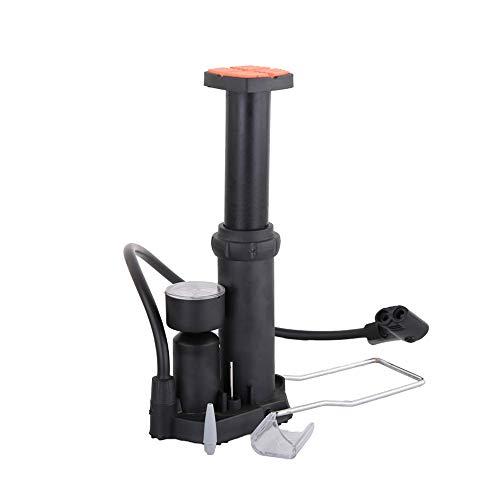 LSS Mini Pompe à pédale, gonfleur de Semelle de Bicyclette, Affichage en Temps réel de la Pression atmosphérique Pendant l'utilisation, Base antidérapante, buse Universelle, Noir, pour l'extérieur