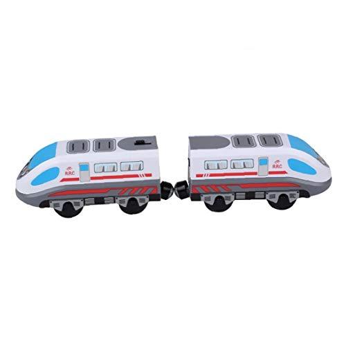 LAANCOO Tren de Juguete del Carro de Pista magnética Modelo Locomotora eléctrica...