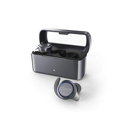 Cleer Ally Wireless Earbuds, Extended Battery Life Up to 10 Hours, Bluetooth Headphones (Grey)