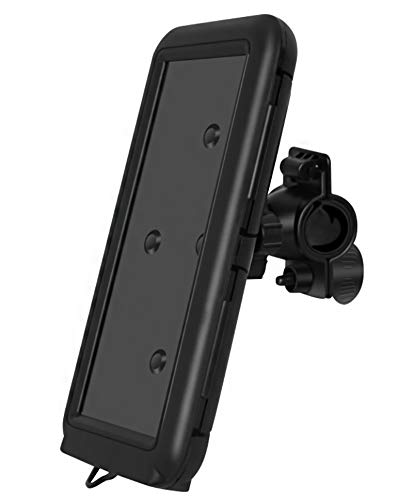 YouthRM Waterproof Bicycle Phone Holder Silica Gel Smartphone Holder with Touch Screen 360 Rotation Compatible with Bicycle MotorcycleHandlebar