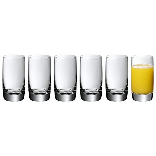 WMF Easy Plus Saftgläser Set 6-teilig, Gläser 250 ml, Kristallglas spülmaschinengeeignet, bruchsicher