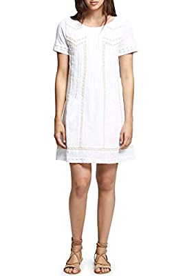 Sanctuary $139 Womens New 1024 White Lace Eyelet Short Sleeve Shift Dress S B+B