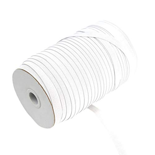 SUPVOX Elastic Bands Spool Sewing Band Flat Elastic Cord for DIY Craft Knitting...