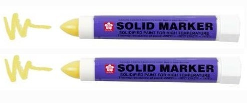 Sakura of America : Solid Marker, Twist-action, 13mm, Yellow -:- Sold as 2 Packs of - 1 - / - Total of 2 Each