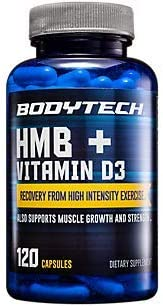 HMB Vitamin D3 Supports Muscle Growth and Strength 120 Vegetable Capsules product image
