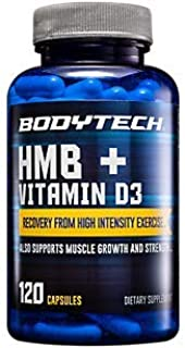HMB + Vitamin D3 Supports Muscle Growth and Strength (120 Vegetable Capsules)