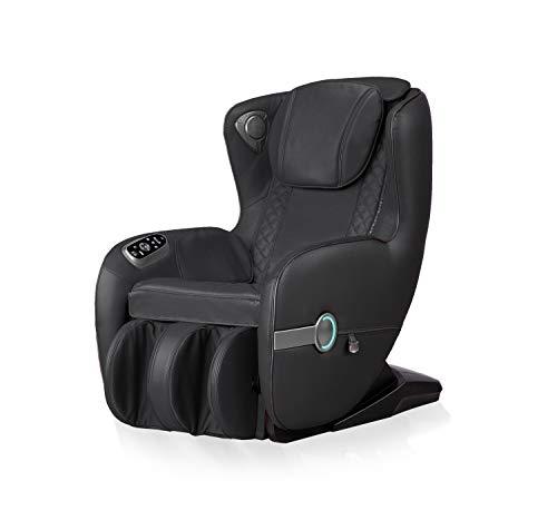 XXL *LUXUS* Designer Leder Massagesessel Shiatsu Chefsessel Massage Relaxsessel schwarz