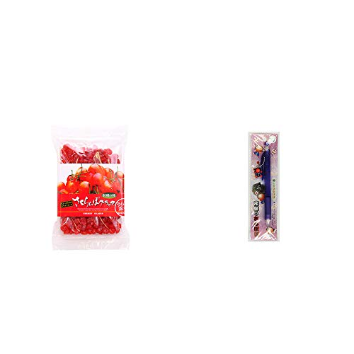 [2点セット] 収穫の朝 さくらんぼグラッセ ラム酒風味(180g)・さるぼぼ 癒しシャープペン 【パープル】