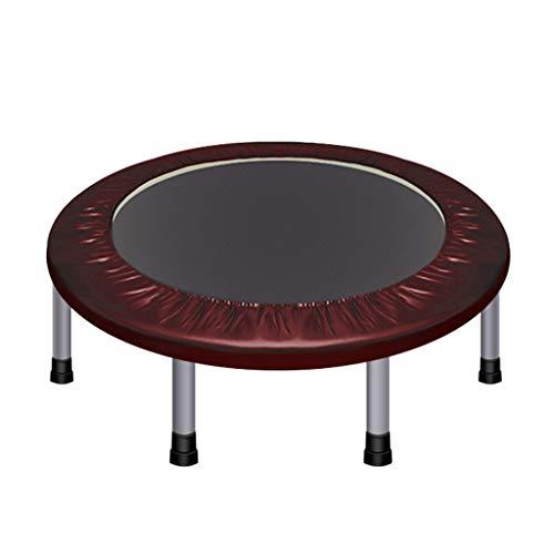 Fitness Trampoline Indoor Outdoor | Kids Adult Bungee Beginners Rebounder | Opvouwbare springmat met handvat Elastische Touw Lente | Aerobic Bouncer Cardio Workouts Bruin
