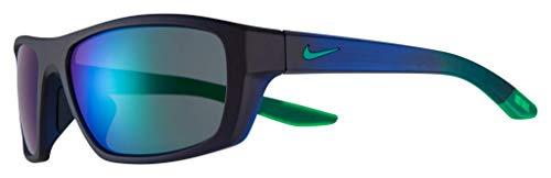 Nike CT8178-451 Brazen Boost M - Gafas de sol mate con montura de obsidiana oscura, color gris con lente de espejo verde