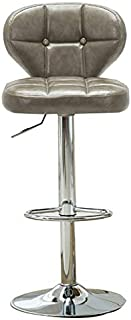 Yuanyuanliu Height-Adjustable High-end Bar Stool, Coffee Shop Chair, Swivel Chair, Front Desk Stool, Jewelry Counter Chair (Color : K#)