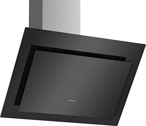 Bosch DWK67CM60 Serie 4 Wandesse / B / 60 cm / Klarglas Schwarz / wahlweise Umluft- oder Abluftbetrieb / TouchSelect Bedienung / Intensivstufe / Metallfettfilter (spülmaschinengeeignet)