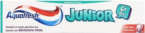 Lot 12 Aquafresh Dentifrice 75 Junior + 6 ans enfant hygiène et soin des dents
