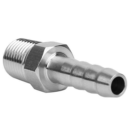 Conector de rosca macho de acero inoxidable de 1/4 pulg.(BSPT1/4-10mm)