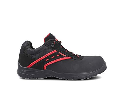 Paredes ACTINIO NEGRO PAREDES SP5016-NE/43 - Zapato seguridad negro y rojo, puntera + plantilla Compact No metálica. Modelo ACTINIO NEGRO. Categoría S3 SRC - Talla 43