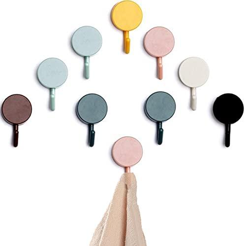 10 piezas Ganchos Autoadhesivos,Cocina Baño Toallero Dormitorios Ganchos de Pared Autoadhesivo redonda ganchos Adhesivos ,ganchos autoadhesivos para colgar,Ganchos sin Clavo(Color aleatorio)