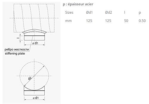 Piquage union pour gaines flexibles de ventilation Winflex 125mm (125mm)