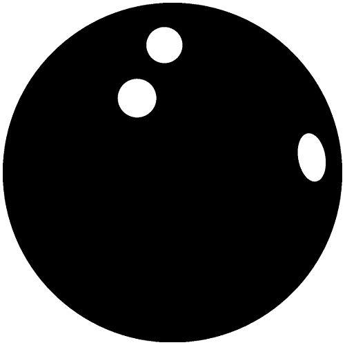 Samunshi® Autoaufkleber Bowlingkugel Aufkleber in 7 Größen und 25 Farben (8x8cm schwarz)