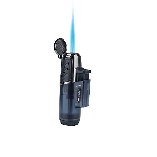 PROMISE Jet Torch Feuerzeug Winddichter Turbo Starke Flamme Gas Butan Nachfüllbarer Brenner Feuerzeug mit Butan Fenster Gadgets für Männer (1 einzelne Holzkohle) (1 Einzelkohle D)