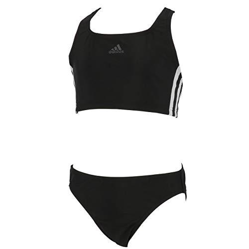 adidas FIT 2PC 3S Y Traje de Baño, Niñas, Negro (Black/White), 14-15 años